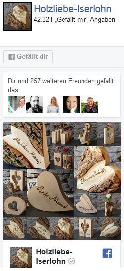 Holzliebe auf Facebook